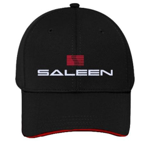 Saleen Logo Hat - Red Sandwich Bill - Cool Comfort Fabric