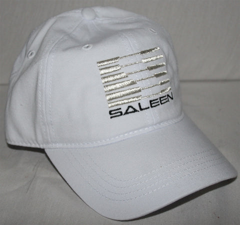 Saleen Womens Embroidered White Hat