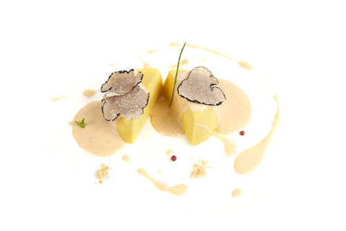 Potato Flan With Black Truffle Puree Recipe