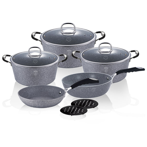 Berlinger Haus Stone Touch Line 10-Piece Marble Coating Cookware Set