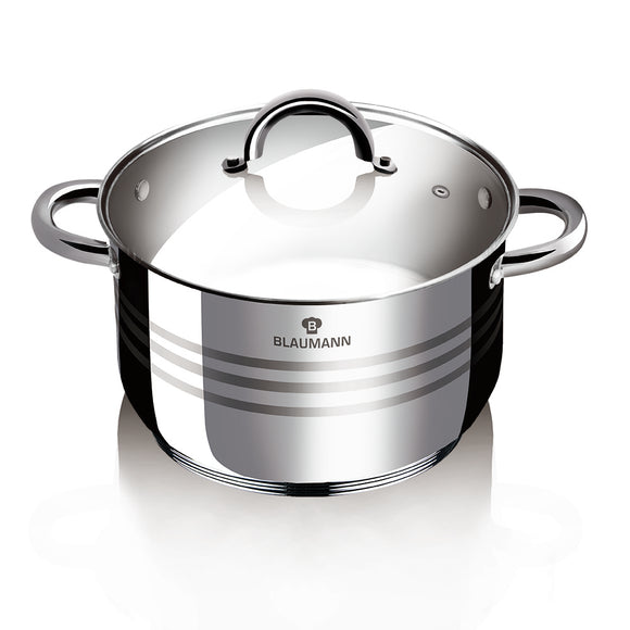 Blaumann 22cm Stainless Steel Stock Pot - Gourmet Line