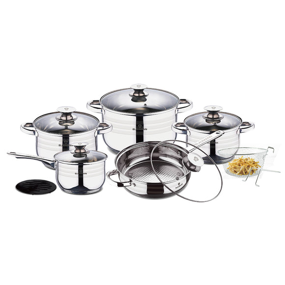 Blaumann 13-Piece Stainless Steel Cookware Set - Gourmet Line