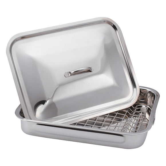 Blaumann 37cm Roaster Pan Set with Grill and Cover