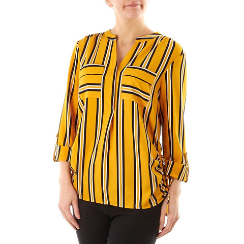 Yellow Stripped Red Top - Sarai Afrique