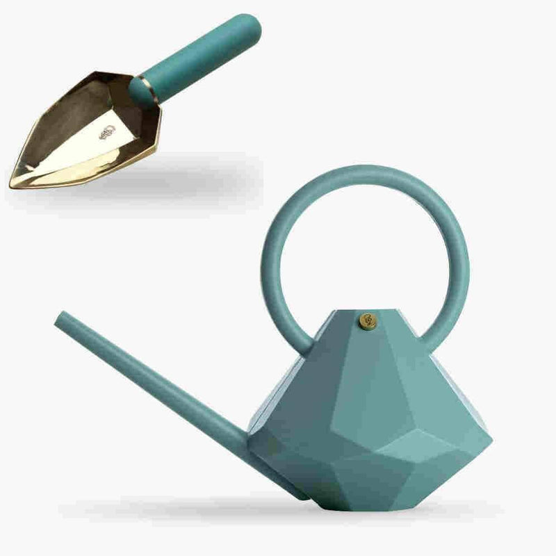 GARDEN GLORY (8L) DIAMOND WATERING CAN + SPADE SET (JADE)