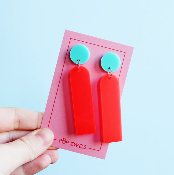 Pop Sticks - Neon Red/Mint