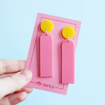 Pop Sticks - Piggy Pink/Yellow