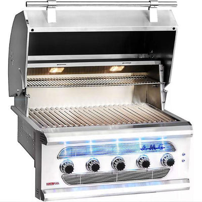 "American Muscle Grill 36"" Stainless Steel 5 Burner Built-in Gas Grill AMG36"