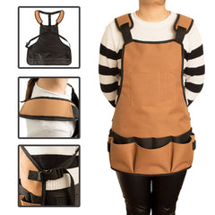 Multi-Function Garden Tool Storage Apron Multi-Pocket Work Clothes
