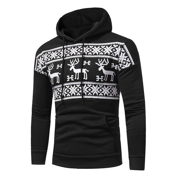 Men's Fashion Casual Hooded Sweater Tide Men'S Sweater Coat