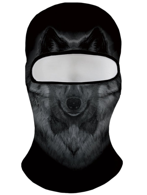 3D Fox Printing Windproof Ski Cap