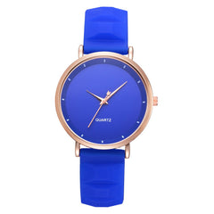 Women Candy Color Leisure Contracted Fashion Students Watch Wrist Watch Quartz W