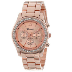 New Fashions Lady Business Diamond Dial Leisure Steel Band Quartz Watch