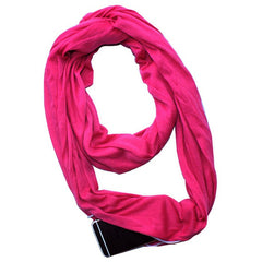 Solid Color Double Warm Multi-function Scarf Zipper Pocket Bib
