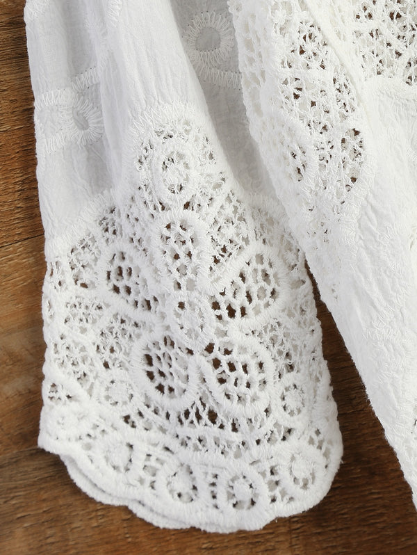Crochet Panel Beach Cover-Up