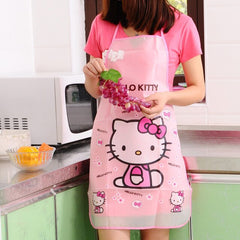 Cartoon waterproof apron with long sleeve cuffs