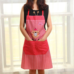 Cartoon Bear Waterproof Apron