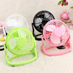 High Quality Plastic 4 inch USB Fan Office Desk Mini Fan mini fan 360 Degree Up or Down for Office or Home Use 4 Colors