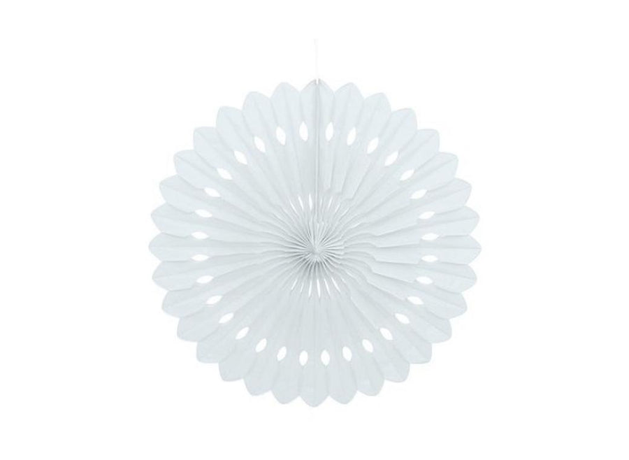 Decorative Fan - White 24cm