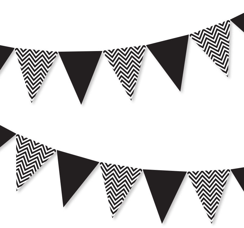 Black Chevron Bunting