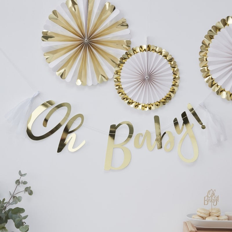 Oh Baby Gold Garland