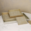 CHAMPAGNE SILVER LEAF LARGE TRAY