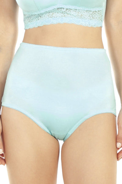 Lace Trim Brief - Aqua / S - Intimates