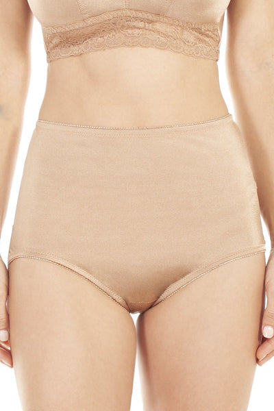 Lace Trim Brief - Dark Nude / S - Intimates