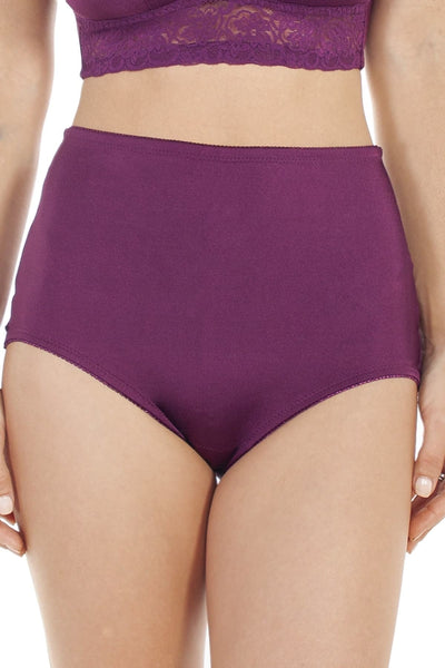 Lace Trim Brief - Dark Purple / S - Intimates