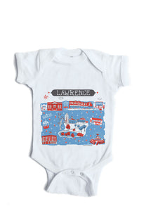 Lawrence KS Baby Onesie-Personalized Baby Gift