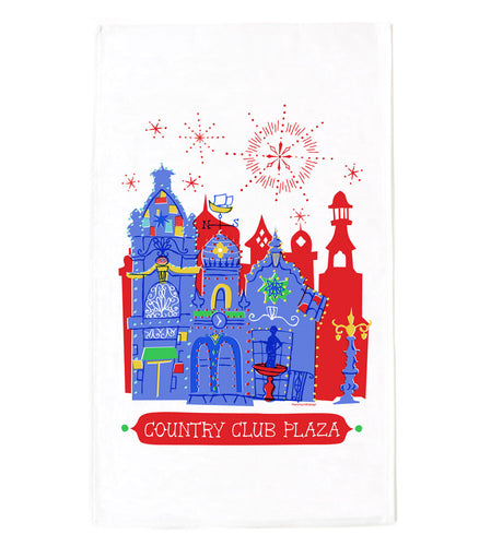 KC Plaza Lights Tea Towel
