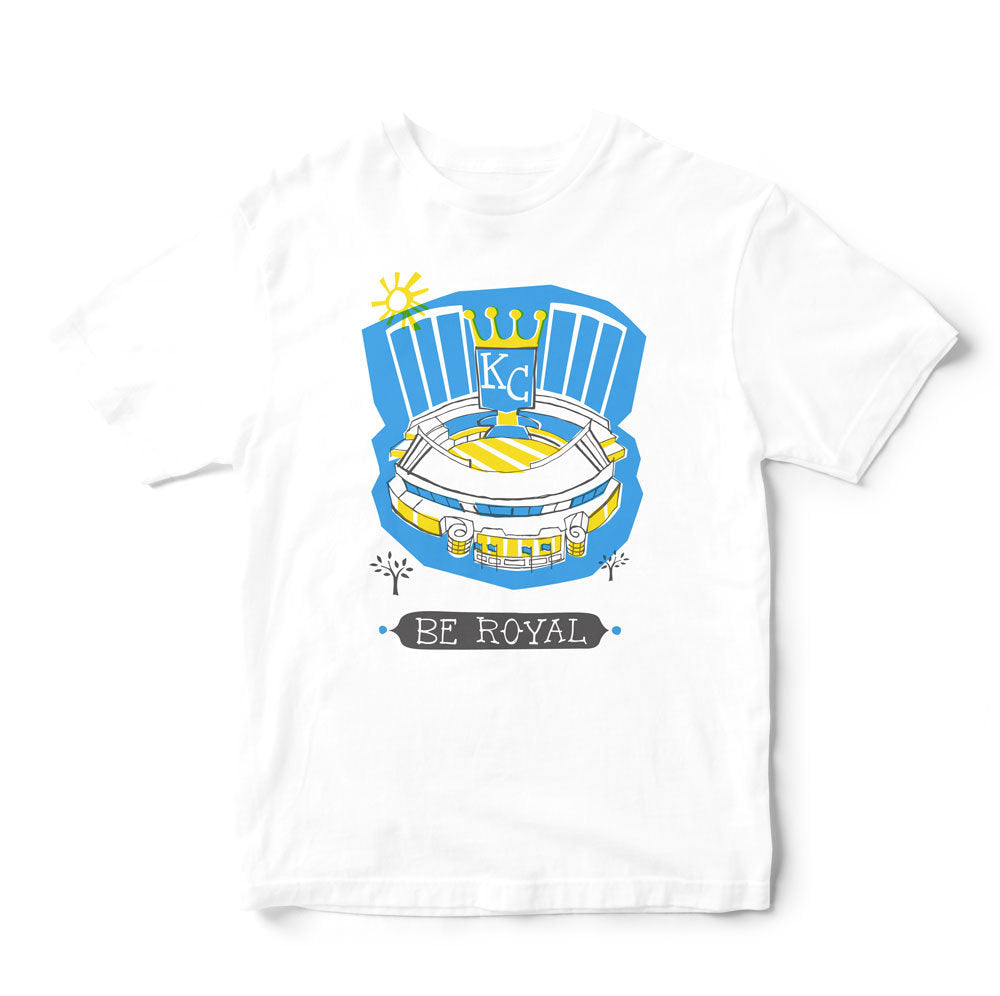 Kansas City Royals Stadium T Shirt-Eco Friendly Print DTG