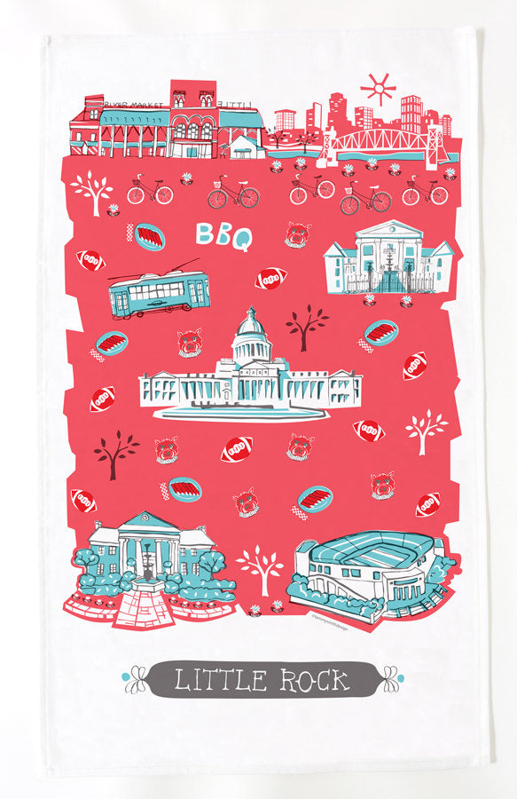 Little Rock Tea Towel
