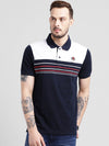 cobb white polo collar t-shirt