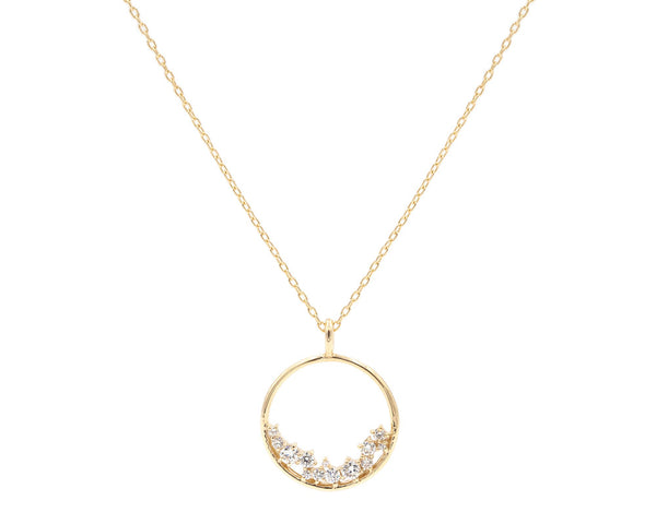 Everett Fine Jewelry Hydra Diamond Cluster Necklace