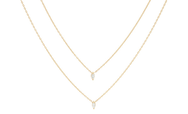 Everett Fine Jewelry Eclipse Diamond Necklace