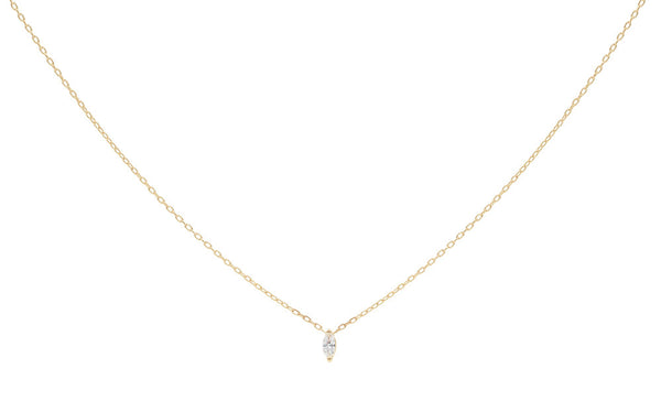 Everett Fine Jewelry Rise Diamond Charm Necklace