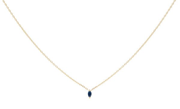 Everett Fine Jewelry Rise Sapphire Charm Necklace
