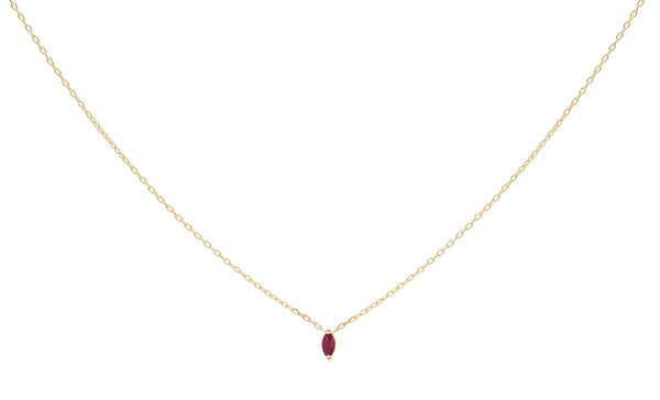 Everett Fine Jewelry Rise Ruby Charm Necklace