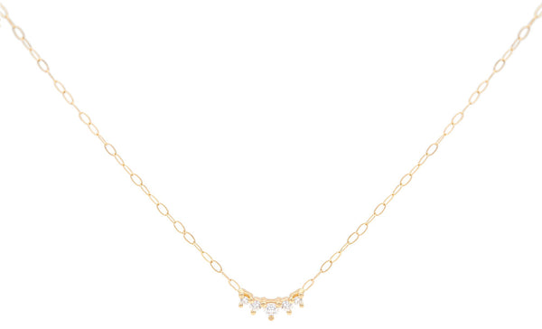 Everett Fine Jewelry Kaya Tiny Diamond Charm Necklace