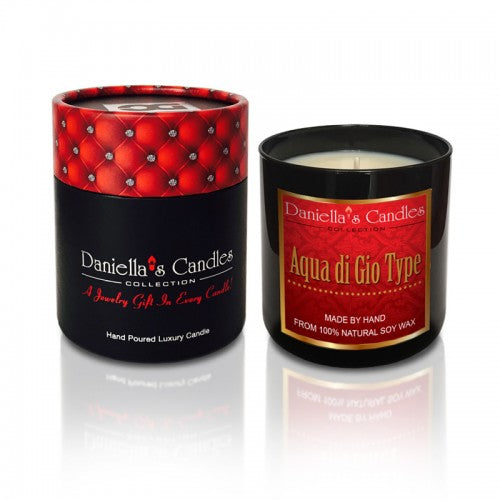 Aqua Di Gio Type Men's Jewelry Aphrodisiac Candle