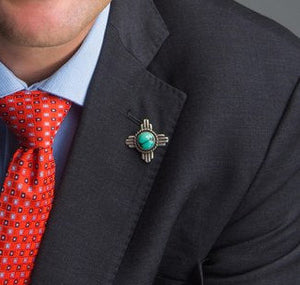 Mayor Tim Keller's Zia Turquoise Lapel Pin
