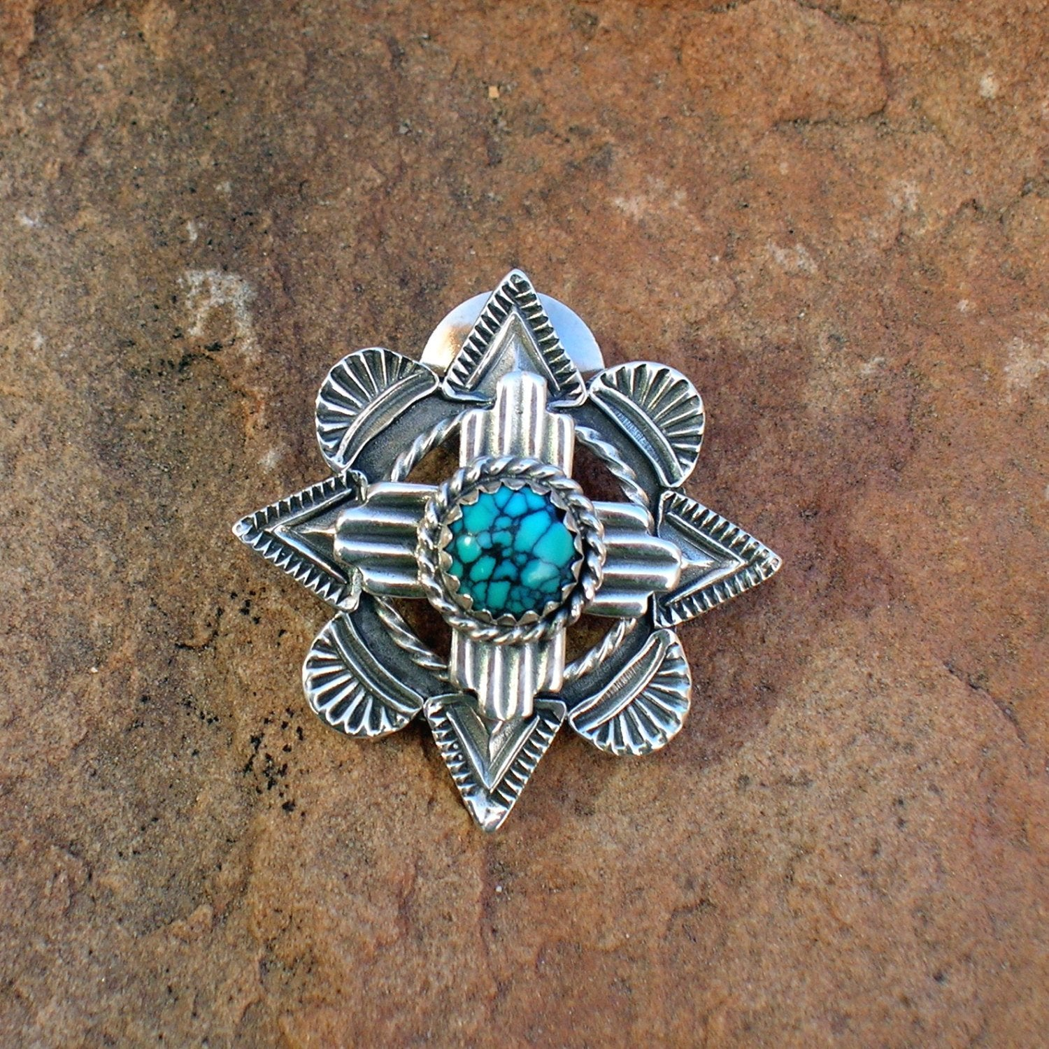 Zia Symbol Over Mission Window Lapel Pin