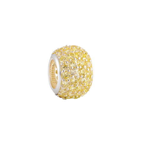 Yellow Pave Filler Charm