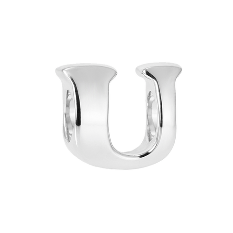 """Vintage U"" Silver Charm - Online shopping for Silver Bead Charms Online, Shop from the great collection of Bead Charms for Bracelets, Silver Dangle Charms, Silver charms for bracelets. Exclusive collection of Charms For Bracelets, bracelets for womens silver, charms for bracelets silver available. Free Shipping COD Available."
