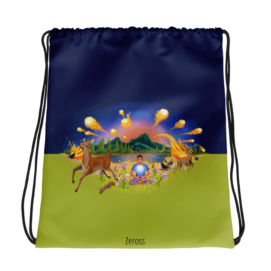 The Autumn Wind - All-Over Print - Drawstring Bag