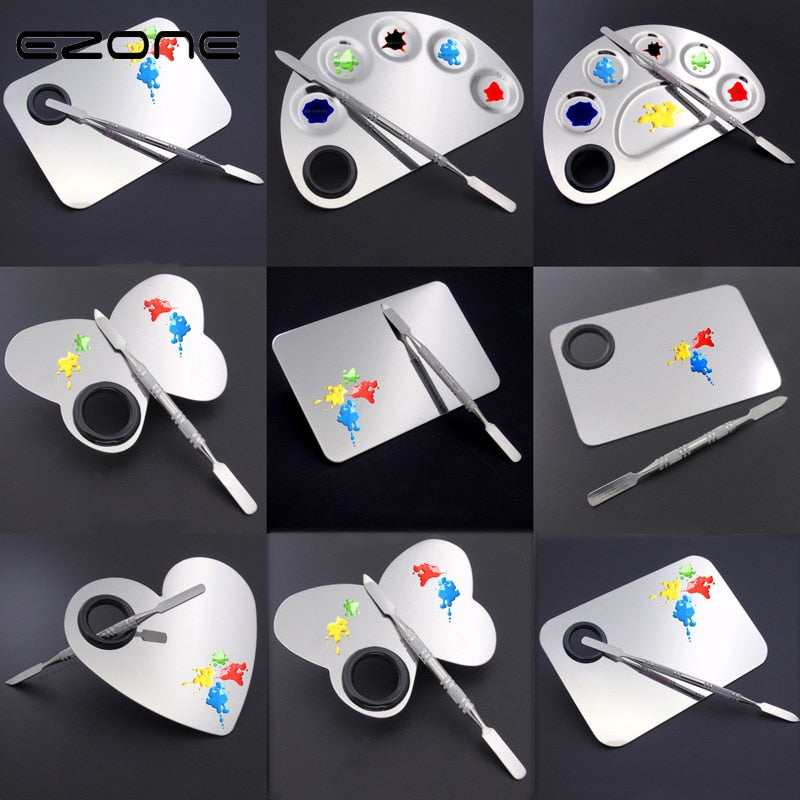 Creative Stainless Steel Paint Palette
