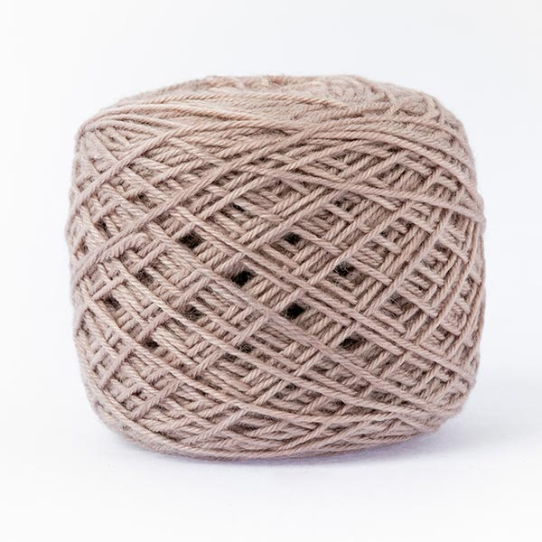 wool blend stone neutral colour ball of yarn