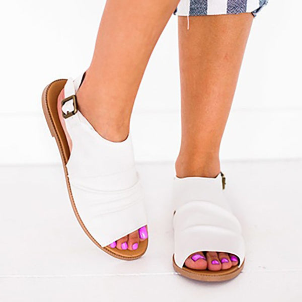 Daily Adjustable Buckle Flat Heel Sandals