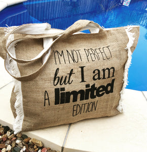 Burlap 'Limited Edition' Bag